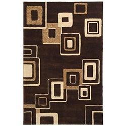 Safavieh Handmade Soho Gala Brown/ Beige New Zealand Wool Rug (8'3 x 11')
