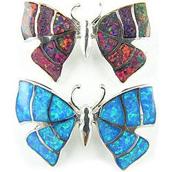 Sterling Silver and Opal Butterfly Pendant (Thailand)