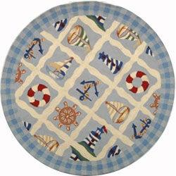 Safavieh Hand-hooked Sailor Ivory Wool Rug (5'6 Round)
