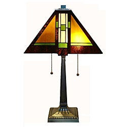 Tiffany-style Mission Table Lamp
