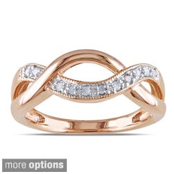 Miadora Silver 1/10ct TDW Diamond Infinity Ring