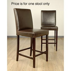 Andre Dark Brown Leather Bar Stool