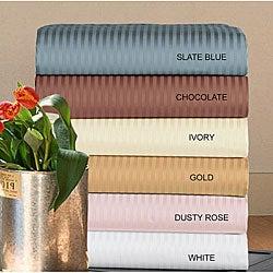 Cotton Stripe 500 Thread Count Sheet Set