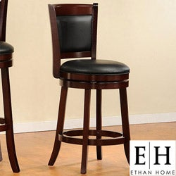 ETHAN HOME Verona Cherry Swivel 24-inch Counter Height Stool