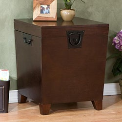 Pyramid Espresso Trunk End Table