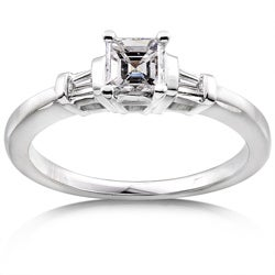 14k Gold 1/2ct TDW Asscher Diamond Engagement Ring (H-I, SI1-SI2)
