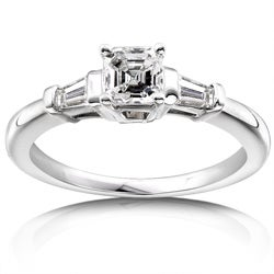 14k Gold 3/4ct TDW Asscher Diamond Engagement Ring (H-I, SI)