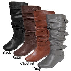 Journee Collection Women&#39;s &#39;Bamboo&#39; Slouchy Boots