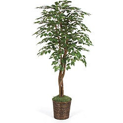 Six-foot Green Faux Ficus Tree