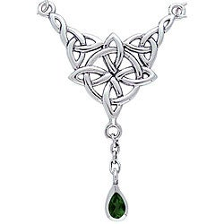 CGC Sterling Silver Celtic Luck Knot Necklace