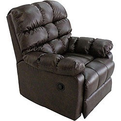 ProLounger Renu Leather Brown Wall Hugger Theater Recliner Chair