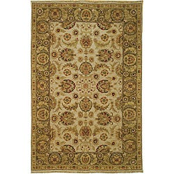 Heirloom Treasures Hand-knotted Ivory Wool Rug (6' x 9')