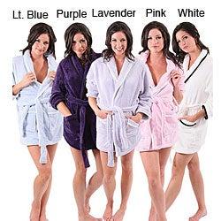 Alexander Del Rossa Women's Short Fleece Robe