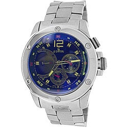 Le Chateau Men's Cautiva Sports Blue Dial Stainless Steel Watch