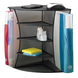 Safco Mesh Desk Corner Organizer