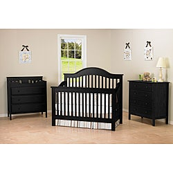 DaVinci Jayden 4-in-1 Crib with Toddler Rail in Ebony