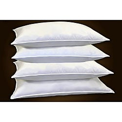 Overfilled 200 Thread Count Feather Jumbo- Sized Pillows (Set of 4)