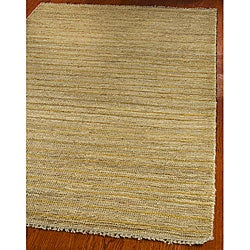 Hand-knotted All-Natural Sunrise Beige Hemp Rug (9' x 12')