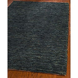 Safavieh Hand-knotted All-Natural Charcoal Grey Hemp Rug (6' x 9')