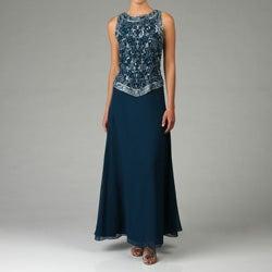 JLaxmi Women's Handmade-bead Detailed Mock 2-piece Dress