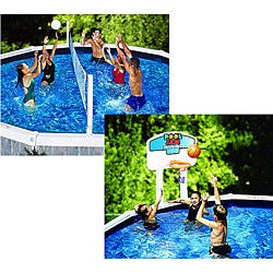 Pool Jam Above-ground Volleyball/ Basketball Combo