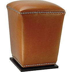 Safavieh Mason Saddle Bi-cast Leather Ottoman