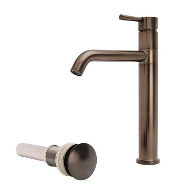 Fontaine European Brushed Bronze Vessel Filler Bathroom Faucet