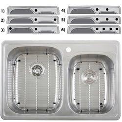 Ticor Overmount Stainless Steel 18-gauge Double-basin Kitchen Sink