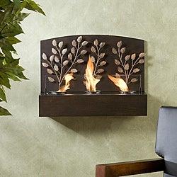 Vineyard Espresso Bronze Metal Wall Mount Fireplace