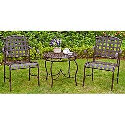 Santa Fe 'Nailhead' 3-piece Iron Bistro Set
