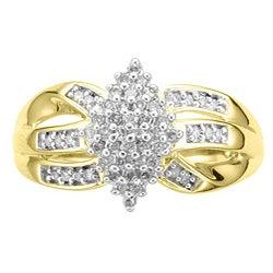 14k Gold Vermeil 1/4ct TDW Diamond Fashion Ring (K-L, I1-I2)