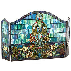 Stained Glass Fireplace Panel