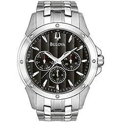 Bulova Men's Stainless Steel Calendar Watch