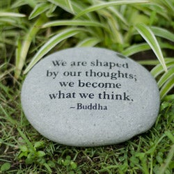 Stone 'We are Shaped by our Thoughts' Messenger Rock (Indonesia)