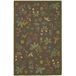 Martha Stewart Grove Twig Olive Green Wool Rug (7&#39;9 x 9&#39;9)