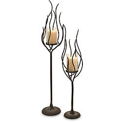 Set of 2 Old Spanish Mission Flame Candle Holder
