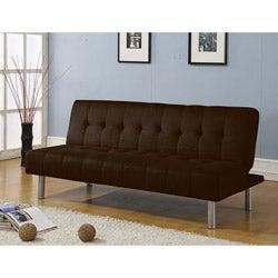 Dalin Adjustable Chocolate Microfiber Futon Sofa