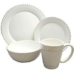American Atelier Bianca Bead 16-piece Dinnerware Set