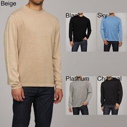Oggi Moda Men's Silk/Cashmere Blend Crewneck Sweater