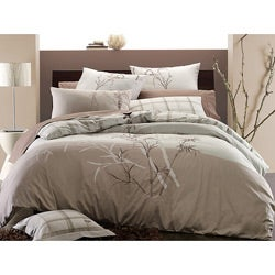 Embroidered Bamboo 3-piece King-size Duvet Cover Set