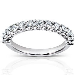 14k White Gold 3/4ct TDW Diamond Wedding Band