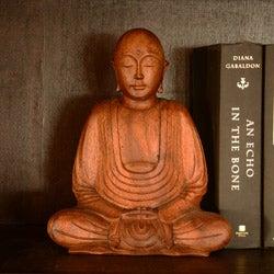 Suar Wood Hairless Buddha Statue (Indonesia)