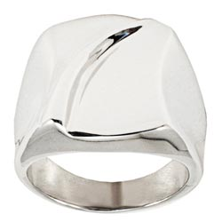 West Coast Jewelry Stainless Steel Groove Ring