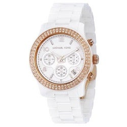 Michael Kors Women's White Ceramic Rose-gold Watch