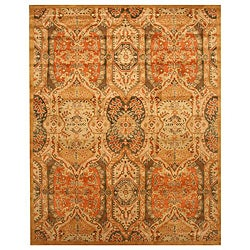 Hand-tufted Piazza Gold Wool Rug (8'9 x 11'9)