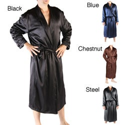 Classic Men's Long Satin Lounge Robe