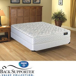 Spring Air Alpine Plush Value Back Supporter Queen-size Mattress Set