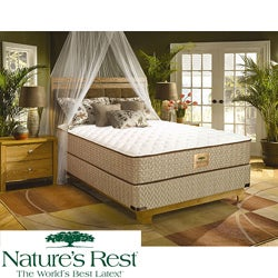 Nature's Rest by Spring Air Tahoe Firm Zoned Latex King-size Mattress Set