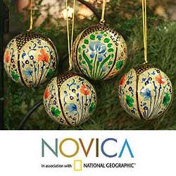 Set of 4 'Holiday Galaxy' Ornaments (India)