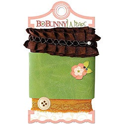 Bo-Bunny Olivia Wraps Ribbon Card (Chocolate Ruffle)